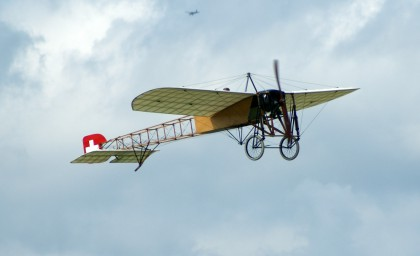Replica of the single Blériot XI which served with the Swiss Air Force in 1912.