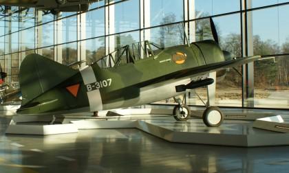 Brewster B-339C Buffalo B-3107 Militaire Luchtvaart KNIL (Nether