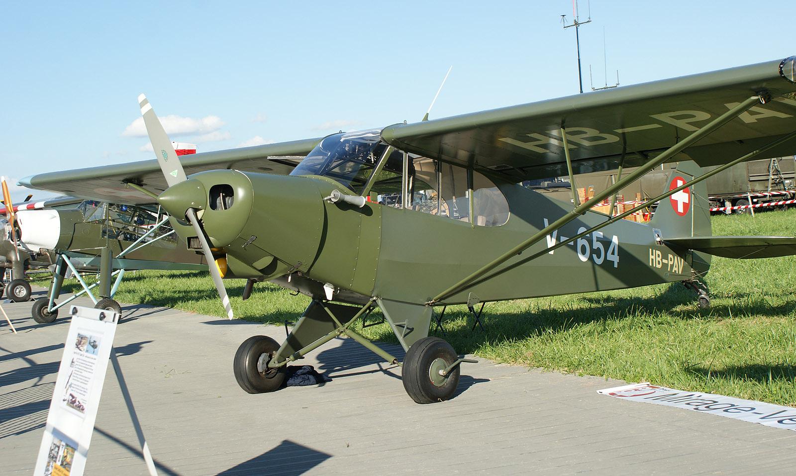 Piper PA-18-150 Super Cub HB-PAV V-654 Swiss Air Force